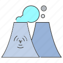 industry, nuclear, pollution, power plant icon