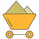 cart, energy, industry, mining, trolley icon