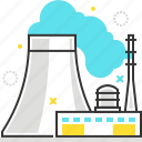 building, energy, factory, industrial, plant, power icon