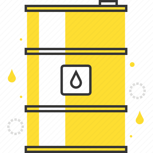 barrel, container, gas, metal, oil, petrol, power icon