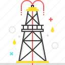 drilling, fuel, gas, industry, rig, steel, tower icon