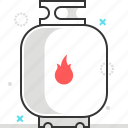 cooking, fire, gas, gasheat, natural, tank icon