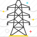 cable, electric, industry, line, pole, telephone, tower icon
