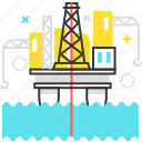 construction, factory, gas, offshore, oil, petrol, platform icon