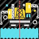 construction, factory, gas, offshore, oil, petrol, platform