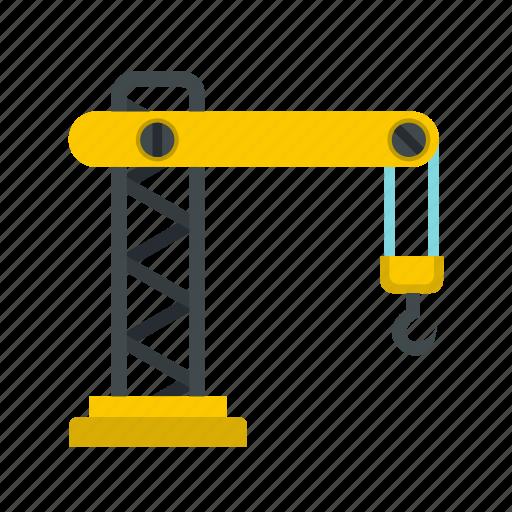 construction, crane, equipment, hook, industry, lift, machine icon
