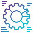 business, chart, cogwheel, marketing, pie, settings, statistics icon