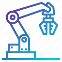 arm, factory, industrial, industry, manipulator, mechanical icon