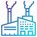 buildings, contamination, factory, industrial, industry, landscape, pollution icon