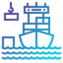 boat, distribution, industry, ship, transport, travelling icon
