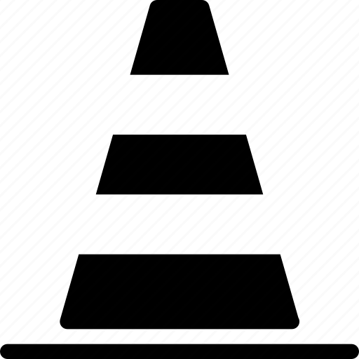 alert, cone, industry, traffic, warning icon