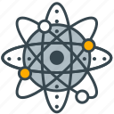 atom, education, industry, molecule, science icon