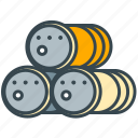 barrel, industry, managment, shipment, waste icon