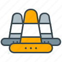 caution, industry, road, sign, warning icon