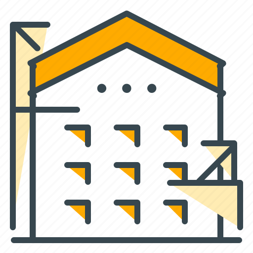 apartment, building, construction, home, industry icon