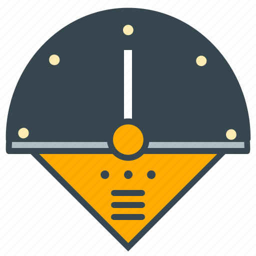 control, industry, measure, speedometer icon