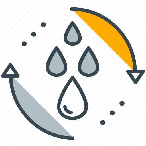 arrows, drops, hydropower, industry, water icon