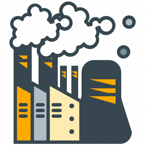chimney, factory, industry, plant, power, smoke icon
