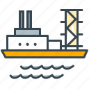 industry, platform, sea, ship, shipment icon