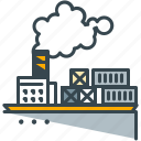 boat, delivery, industry, ship, shipment icon