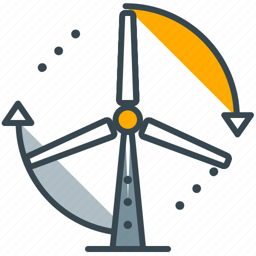 electricity, energy, industry, turbine, wind icon