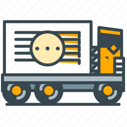 delivery, industry, shipment, truck, vehicle icon