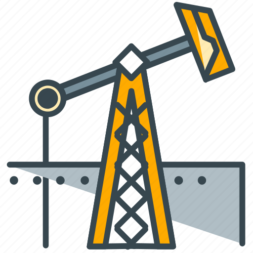 extraction, industry, oil, plant icon