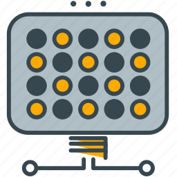electricity, energy, industry, panel, solar icon