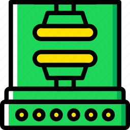 factory, industrial, industry, press, production icon