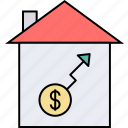home investment, home loan, house investment, house mortgage, mortgage enhancement, property estate, residential credit icon