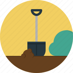 building, construction, equipment, shovel, tool icon