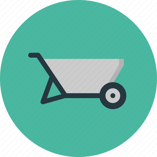 building, construction, industry, tool, tools, wheelbarrow icon