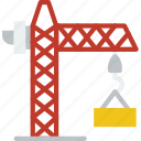 crane, factory, industry, production icon