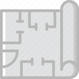 blueprints, factory, industry, production icon