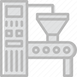 factory, industry, production, robot icon