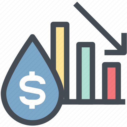 business oil, chart, gas, oil price, power, profit, up icon