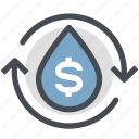 business oil, gas, oil, oil price, power, profit, water icon