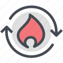 fire, gas, industry, oil, power, pump icon