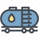 fuel, gas, oil, oil truck, power, tanker, transport icon