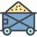 cart, coal mining, industry, mine, mine cart, mining cart, oil icon