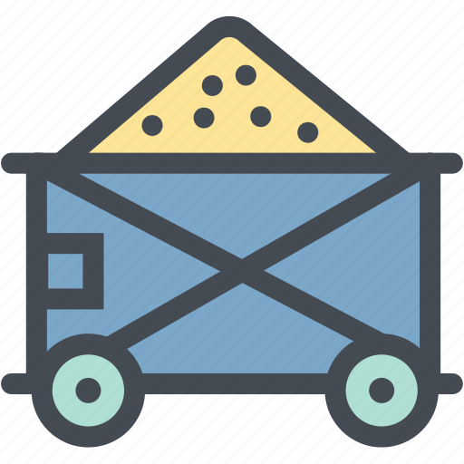 Cart, coal mining, industry, mine, mine cart, mining cart, oil icon - Download on Iconfinder