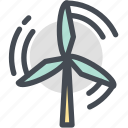 ecology, industry, nature, power, wind, wind power icon