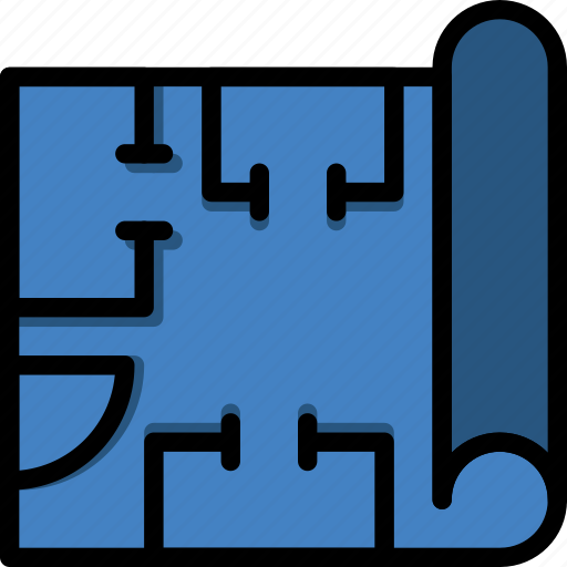 Blueprints, factory, industry, production icon - Download on Iconfinder