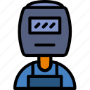 factory, industry, production, welder icon