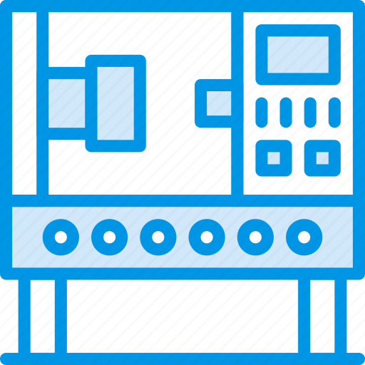 Press, industrial, industry, production, factory icon