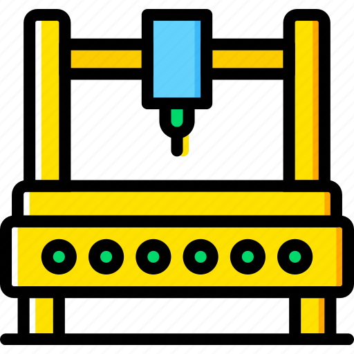 Industrial, industry, production, factory, robot icon