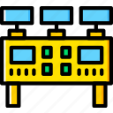 command, factory, industry, panel, production icon