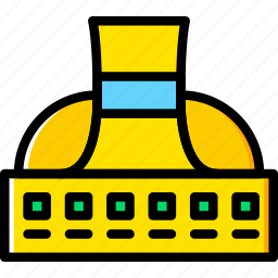 factory, industry, plant, power, production icon