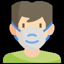coronavirus, disease, face, mask, protection, sick, virus icon