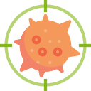 antivirus, coronavirus, detect, heal, kill, target, virus icon